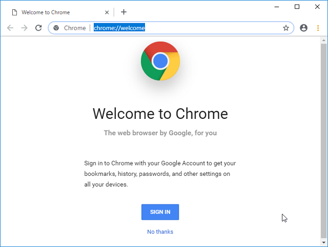 Макет нового дизайна Google Chrome