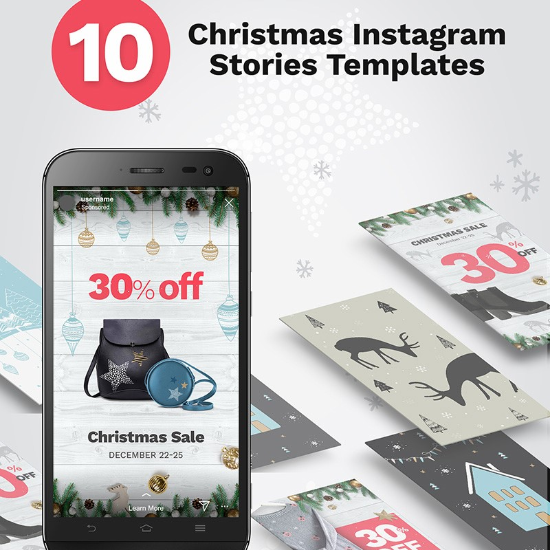 Christmas Instagram Stories Banners