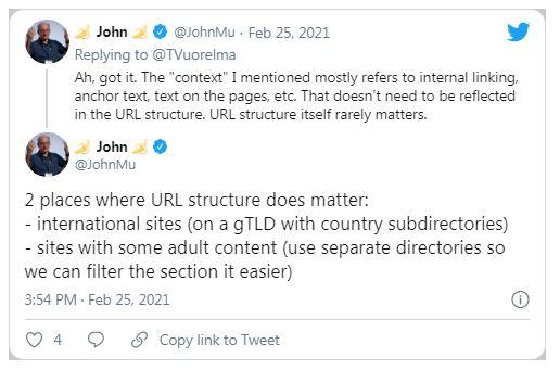 Твіт Джона Мюллера_Google