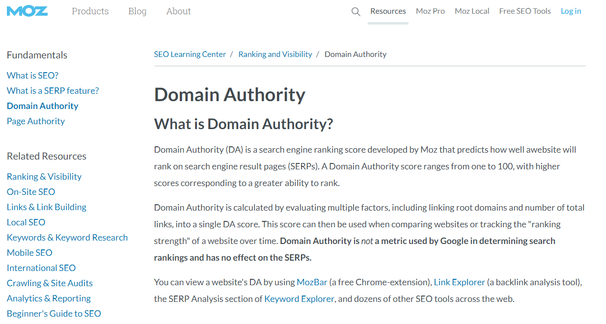 Как Domain Authority сайта связан с линбилдингом
