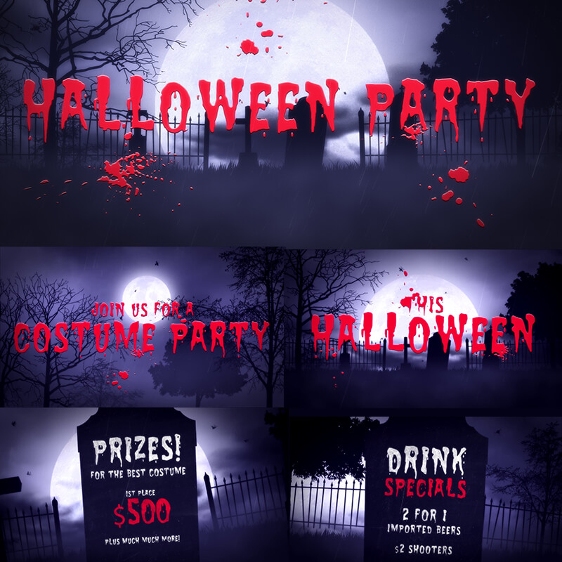 Заставка After Effects Halloween Party