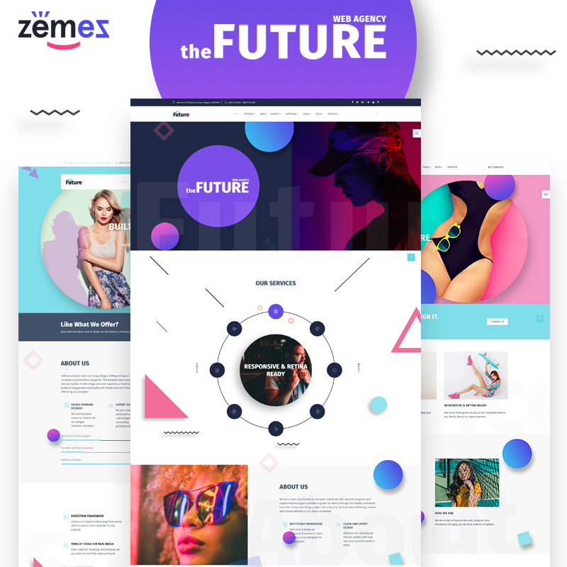 HTML шаблон The Future – Web Design Multipurpose HTML5