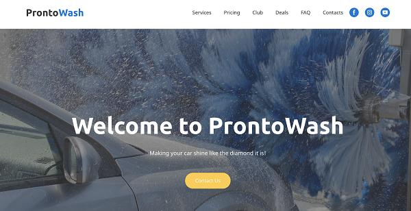 Приклад сайту-візитки: мийка машин