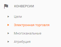 Рис.1. Меню стандартных отчетов в Google Analytics.png